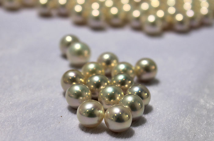 beautiful white pearls