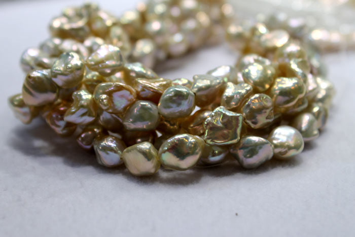 another close up of the beautiful keshi pearls