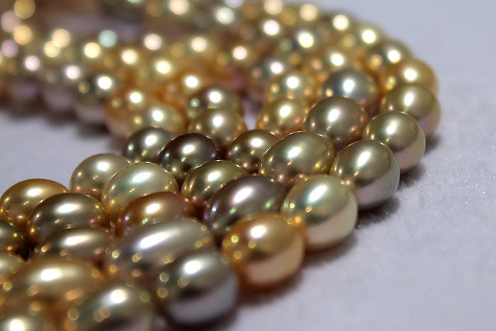 metallic pearl drops