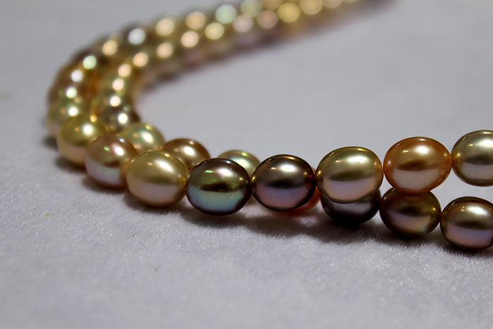 drop pearls in various colors