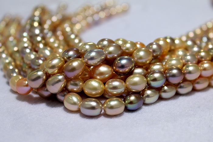 drop pearls with rare colors