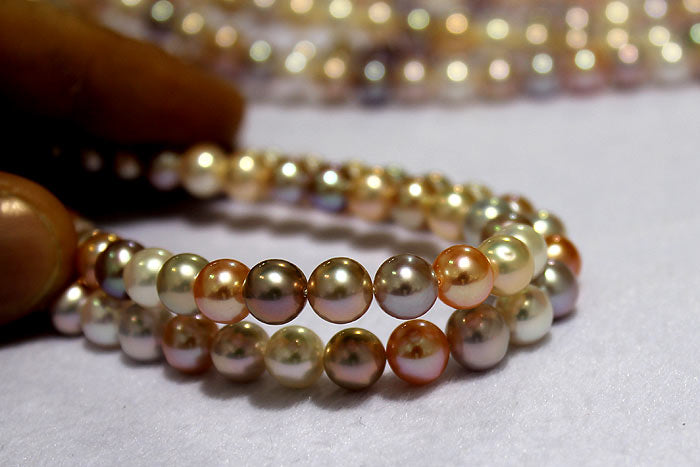 beautiful metallic pearls