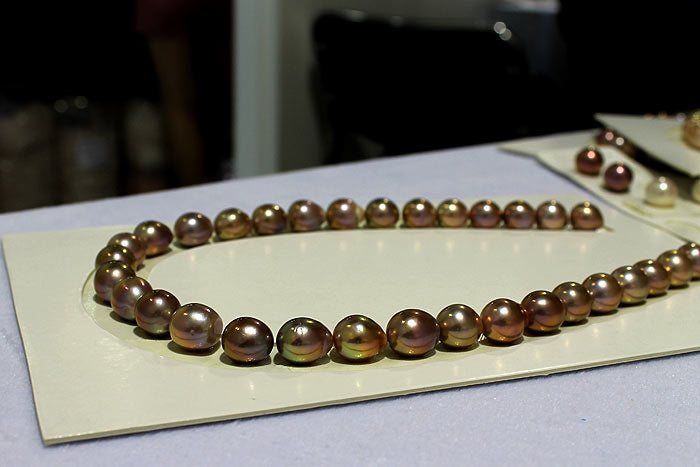 a strand of Edison, bead-nucleated pearls