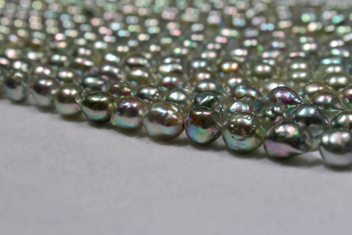 dark colored freshwater Akoya pearls