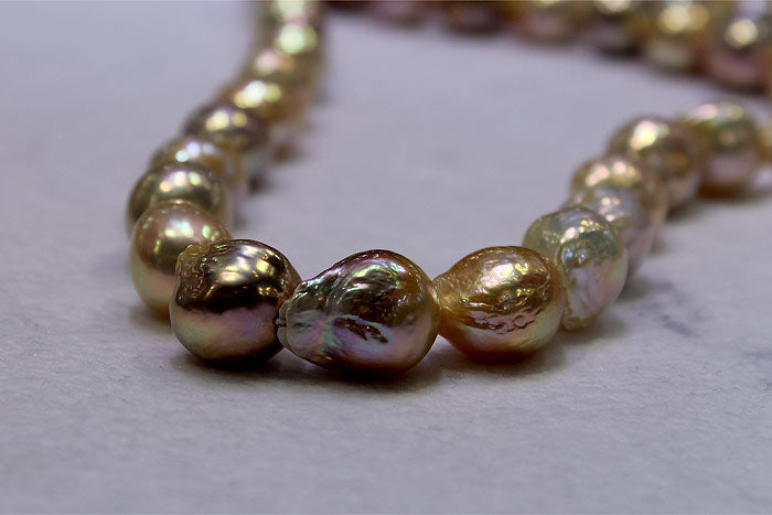 beautiful ripple pearls with electric lusters