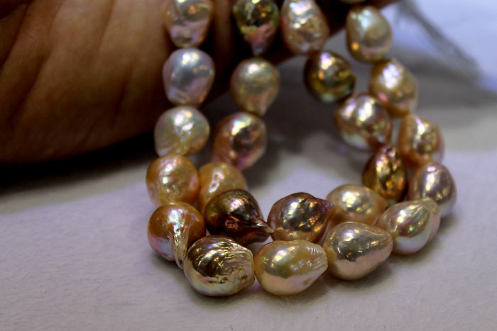 pearls with different ripple textures