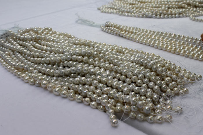 strands of white ripple pearls