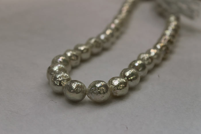 silver/white baby ripple pearls