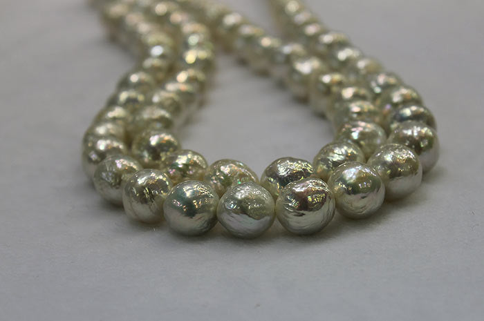 rows of beautiful ripple pearls