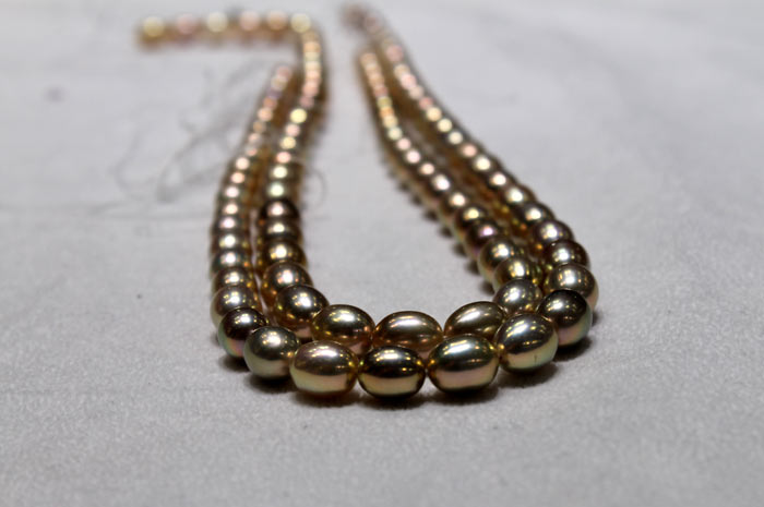 rare colored pearl strands