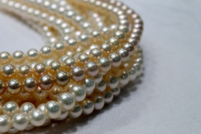 lighter colored freshwater pearl strands