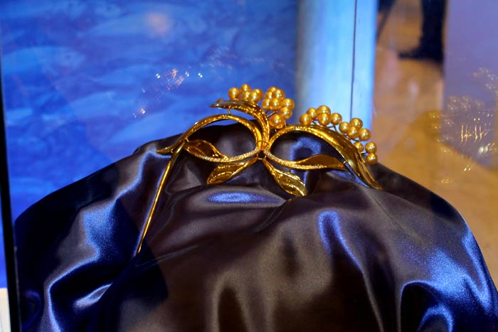 Mask with Golden South Sea Pearls