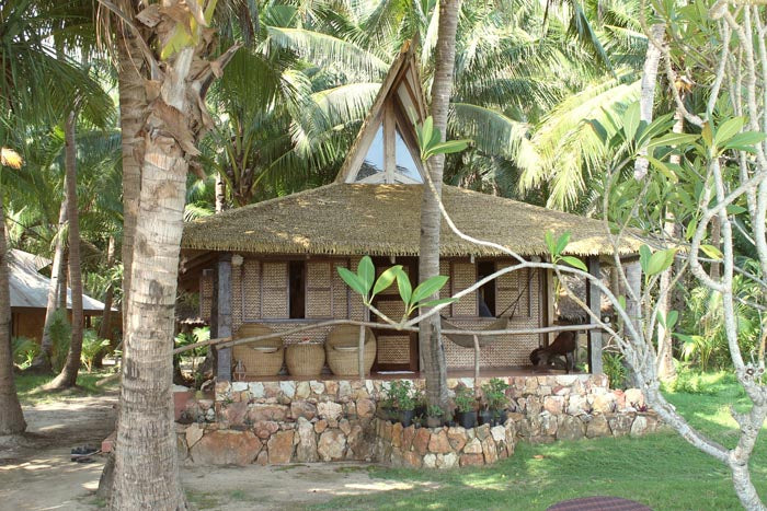 beach-front cabin