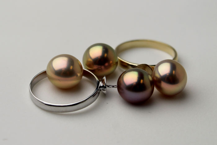 metallic freshwater pearls for rings