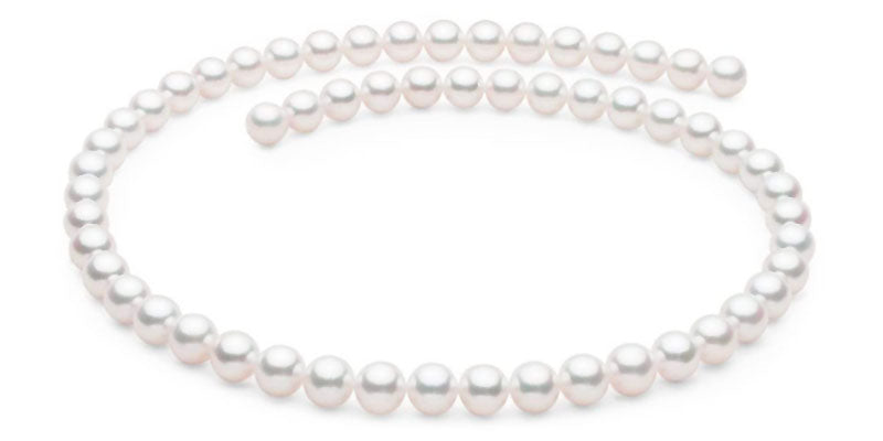 Featured Product Untreated Natural Color Hanadama Akoya Pearl Necklace