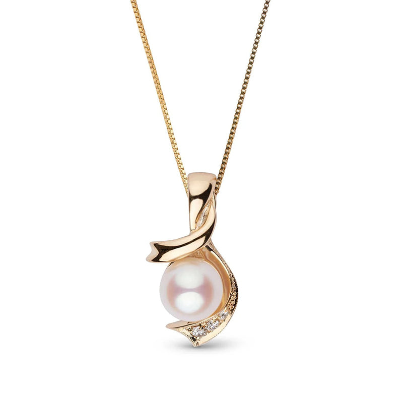 Sail Away Akoya Pearl and Diamond Pendant