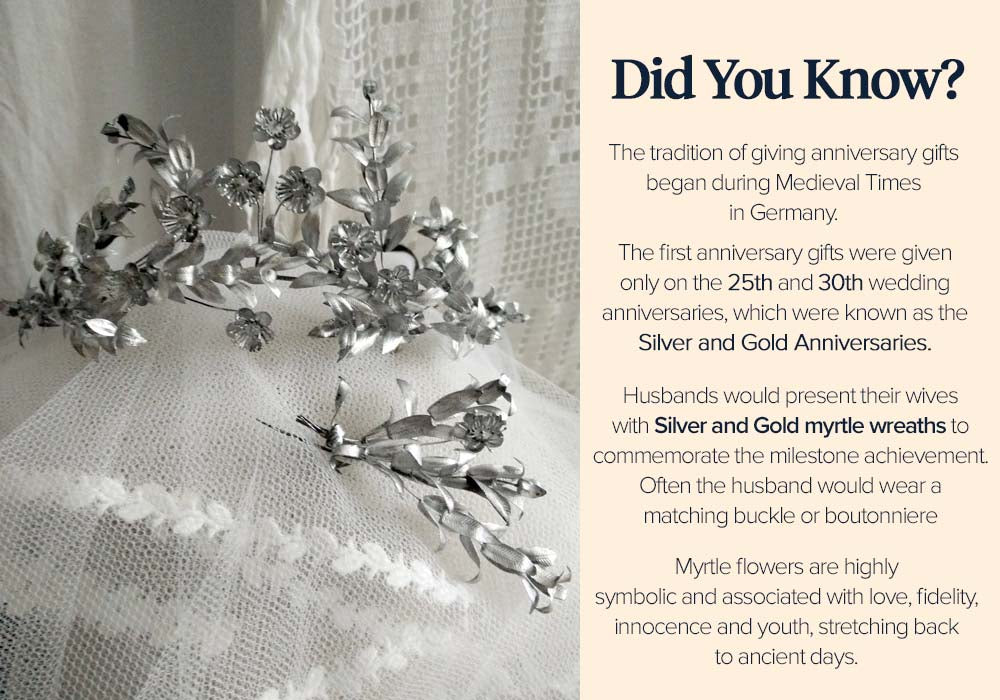 History of Anniversary Gifts - Silver Wedding Crowns