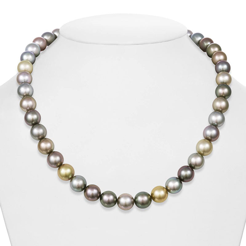 """18"""" Round Tahitian Pearl Necklace: 10.05-10.45mm AA+"""