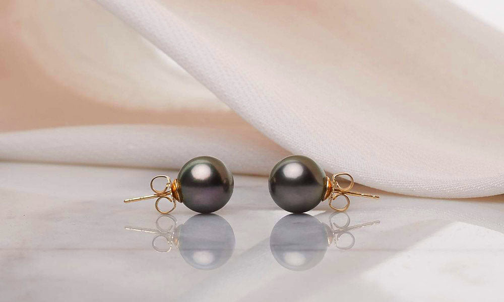 Featured Pearls of Joy Product Spotlight: Tahitian Pearl Stud Earrings 9-10mm