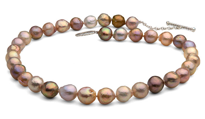natural color freshwater ripple pearls