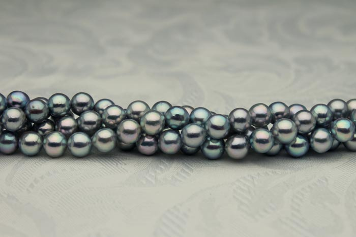 natural color blue akoya pearls from Japan