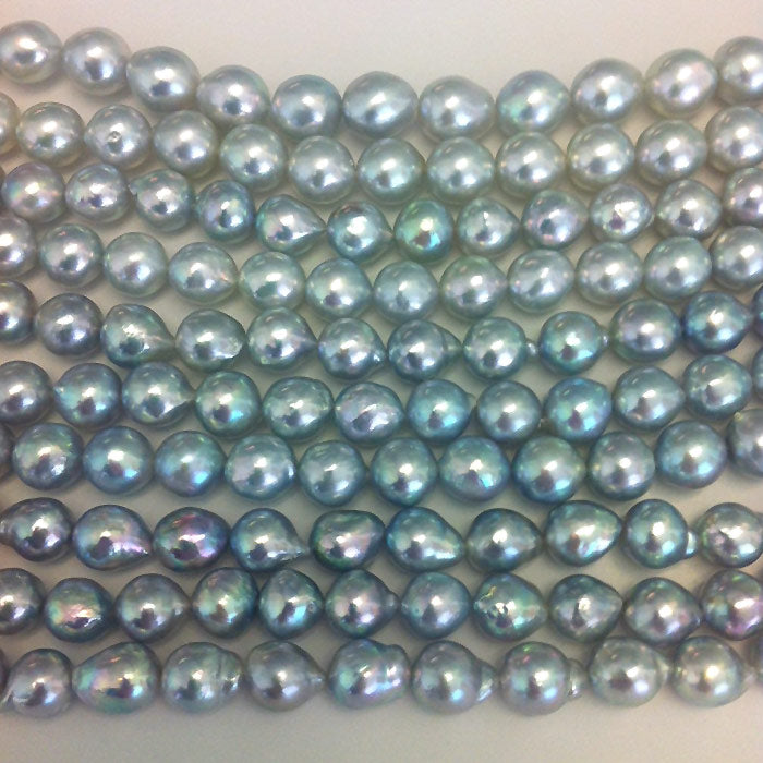 natural blue akoya pearls