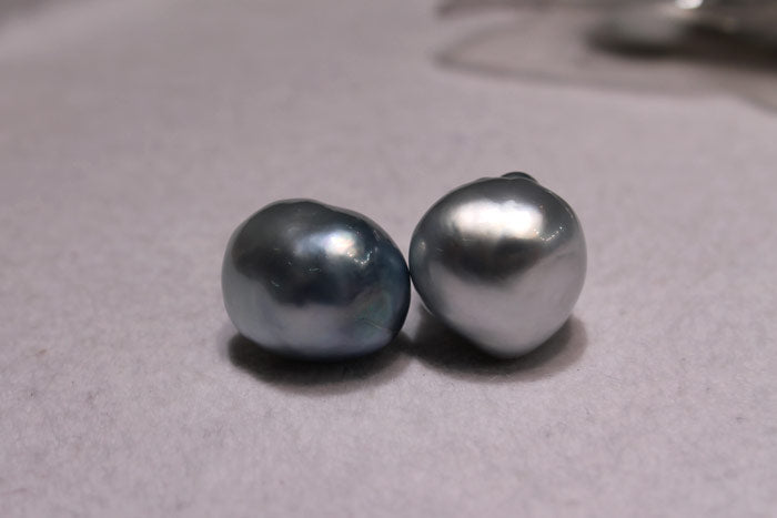 a couple of blue south sea pearls