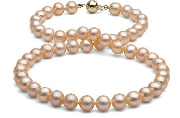 peach pink necklaces