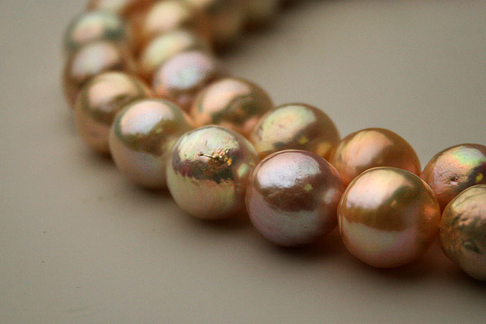nearly round ripple pearls, some would call them