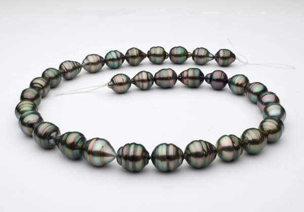 circle tahitian pearl necklace