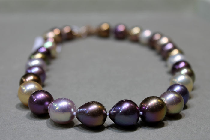 deep color bead nucleated pearls