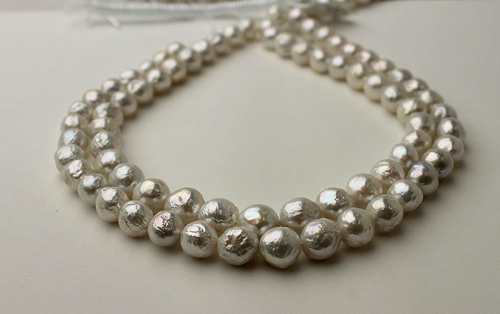 strands of silver baby ripple pearls