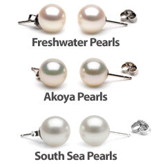 comparing white pearl earrings