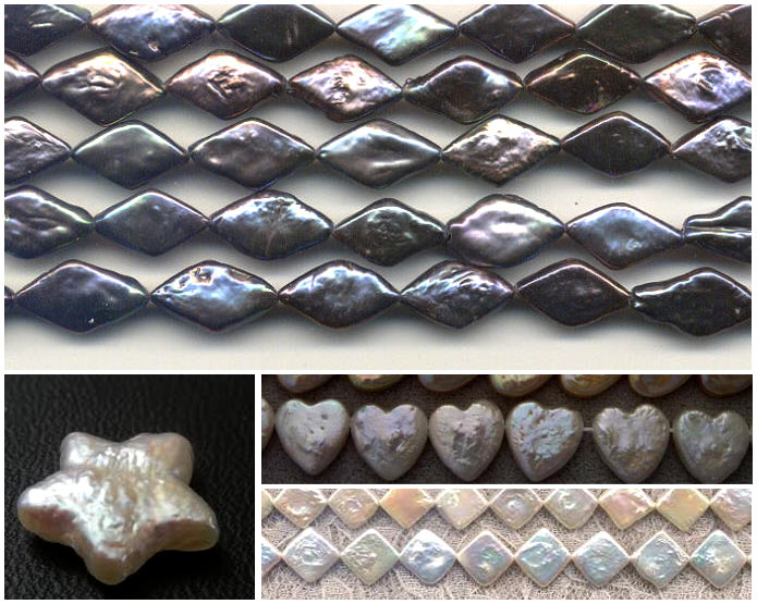 just some of the fun shapes being produced in freshwater pearls