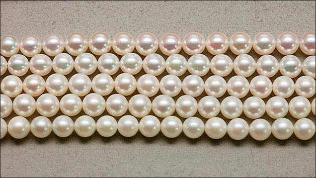 different grades of japanese saltwater cultured pearls