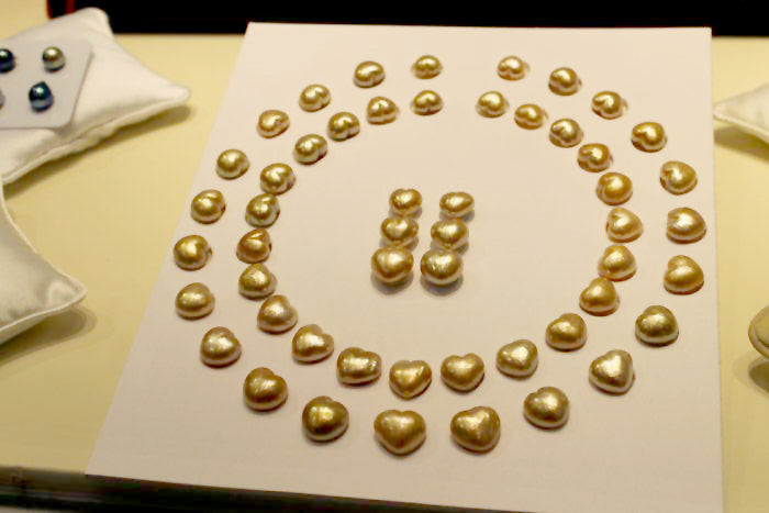 Heart Shaped Golden South Sea Pearls