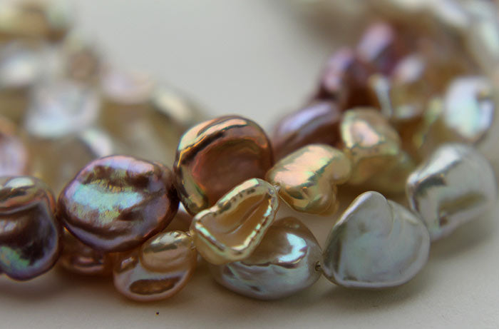 different colored Keshi pearls
