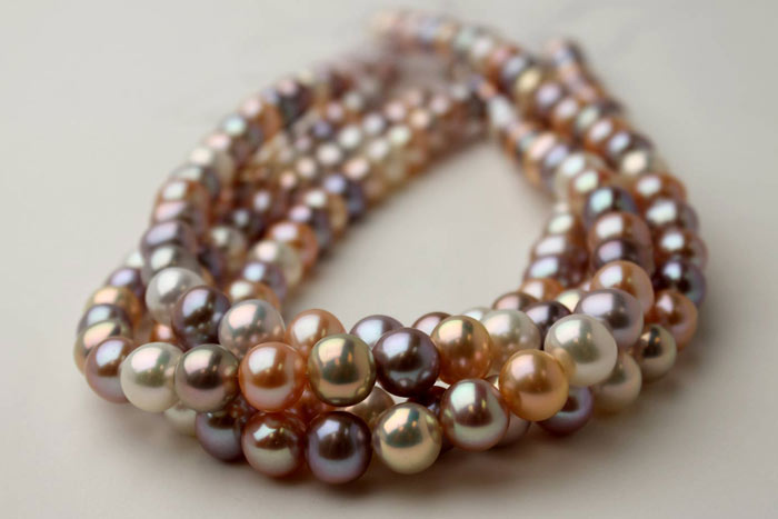 round pearls in different colors