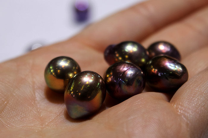 deep color metallic freshwater drops