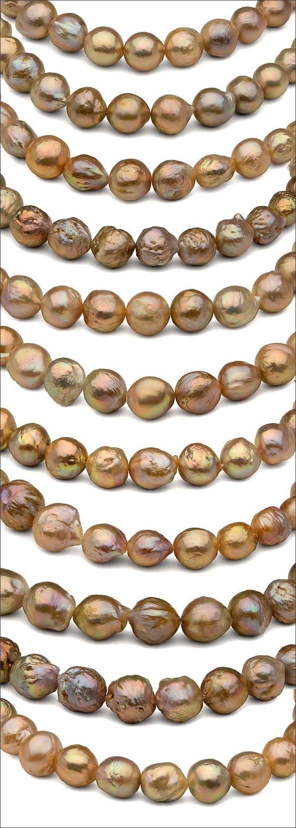 new freshwater ripple pearl necklaces