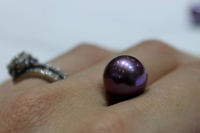 a single purple Edison pearl