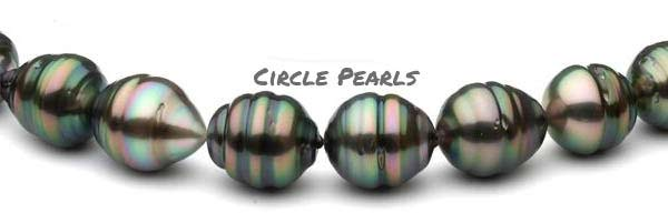 circle tahitian pearls