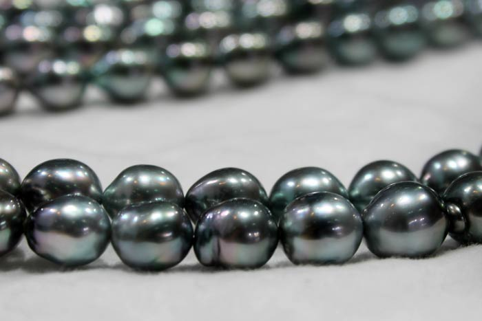 two Tahitian pearl ropes