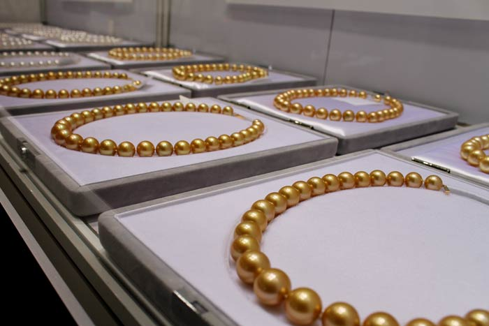 insane golden south sea pearl strands