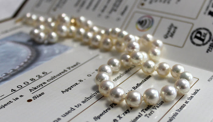 Certified Hanadama Pearl Necklace