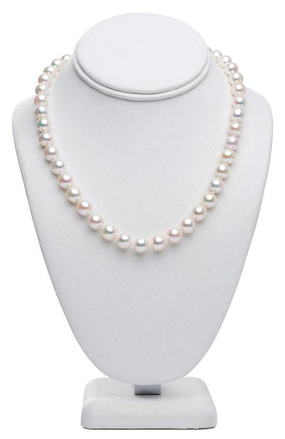 "18"" Baroque White Akoya Pearl Necklace: 9.0 - 9.5mm AA+"