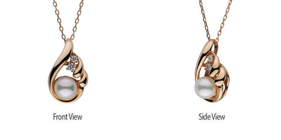 """Caress"" Diamond & Akoya Pearl Pendant"