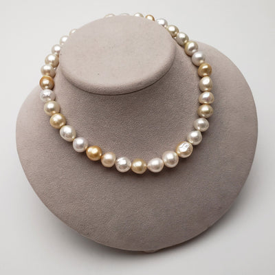 "18"" Baroque Multi-Color South Sea Pearl Necklace: 12.3-15.2mm AA+/AAA"