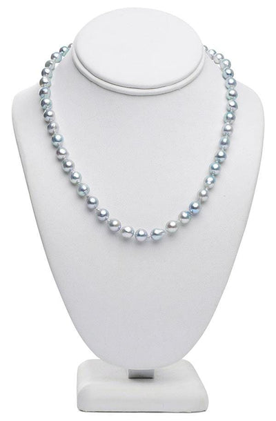 "18"" Baroque Blue Akoya Pearl Necklace: 7.5 - 8.0 - AA+"