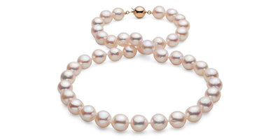 "18"" Baroque White Akoya Pearl Necklace: 9.5 - 10.0mm AA+"